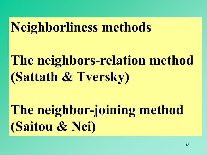 Neighborliness methods
