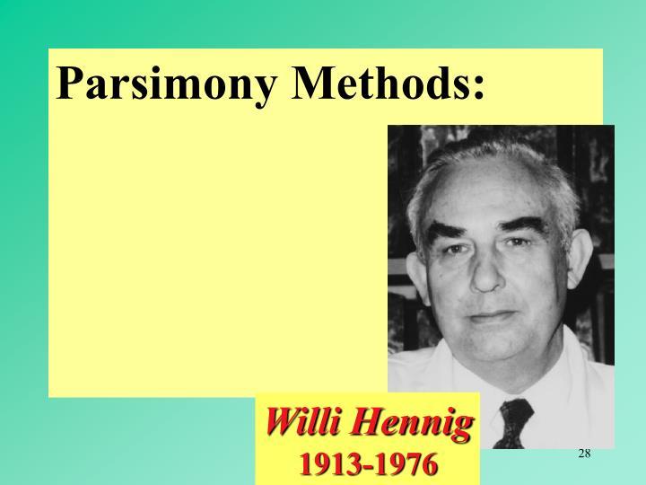 Parsimony Methods: