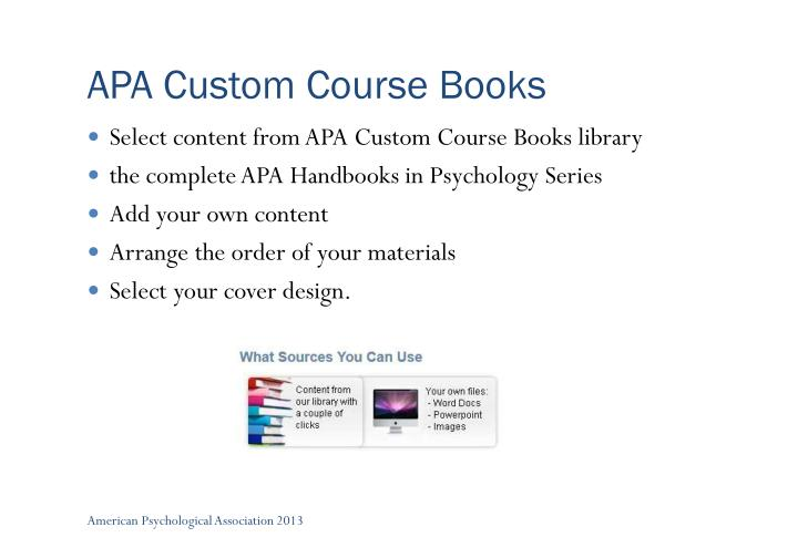 APA Custom Course Books