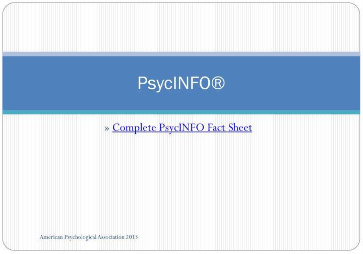 PsycINFO®