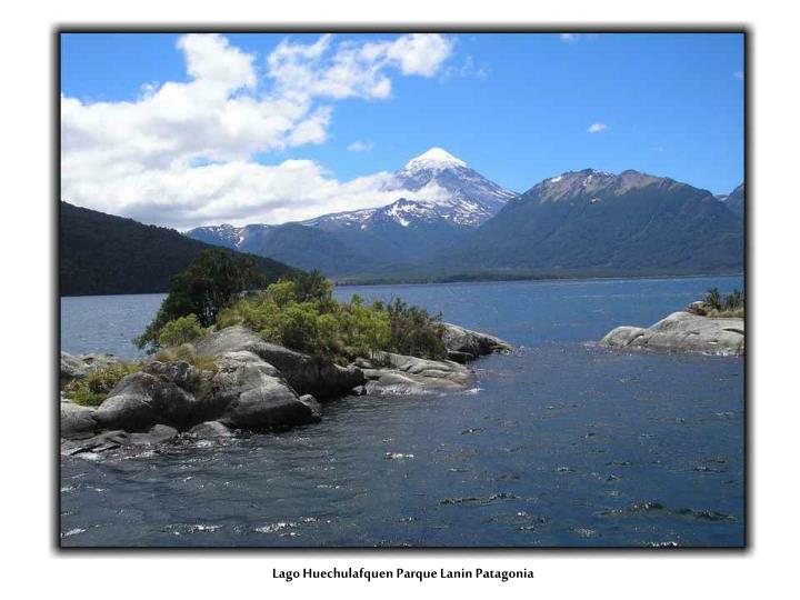 Lago Huechulafquen Parque Lanin Patagonia