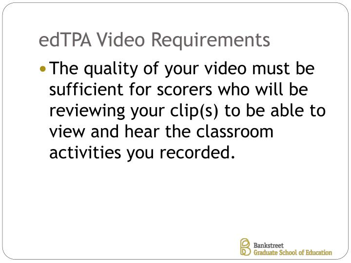 edTPA Video Requirements