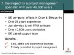 7 developed by a project management specialist with over 40 000 users1