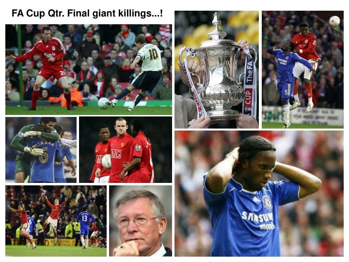FA Cup Qtr. Final giant killings...!
