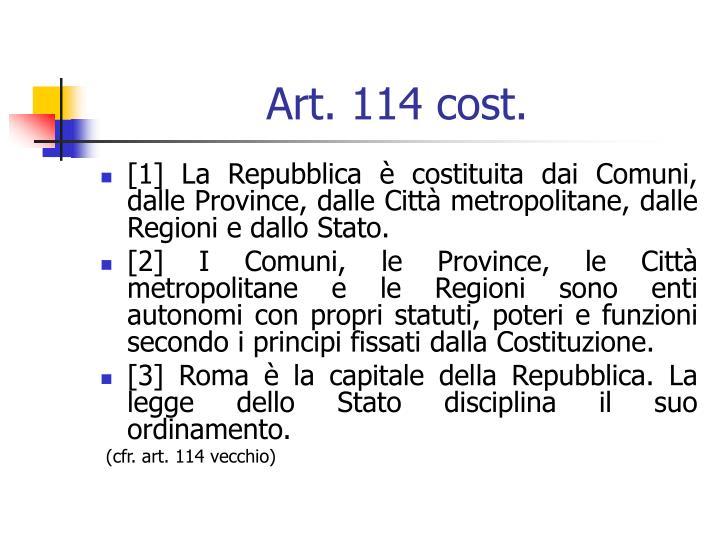 Art. 114 cost.