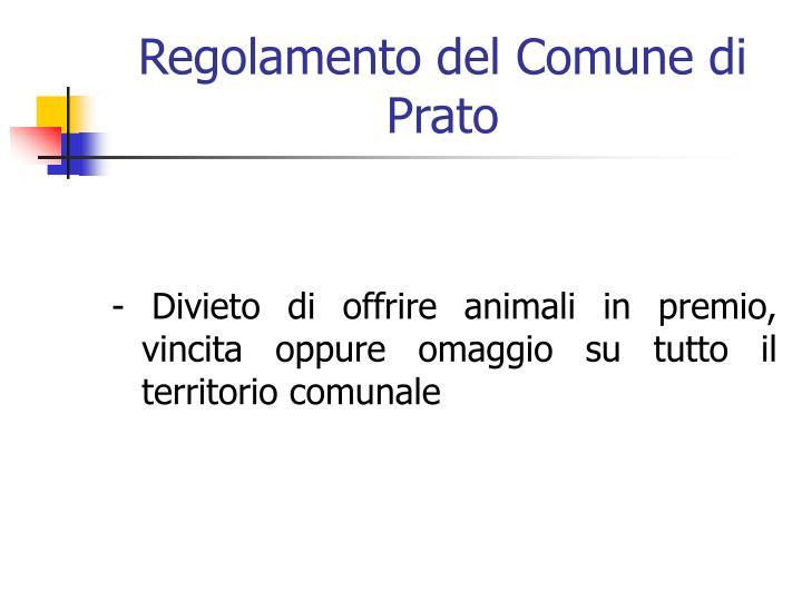 Regolamento del Comune di Prato