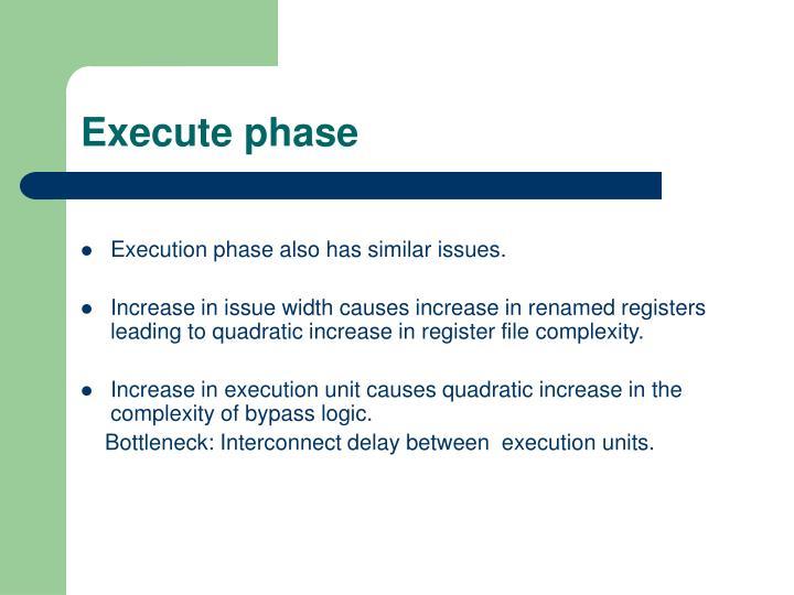 Execute phase