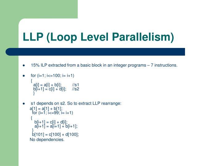 LLP (Loop Level Parallelism)
