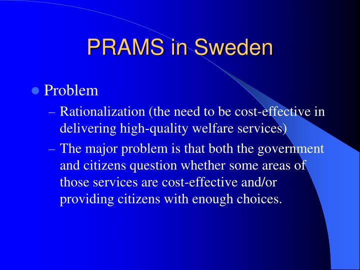 PRAMS in Sweden