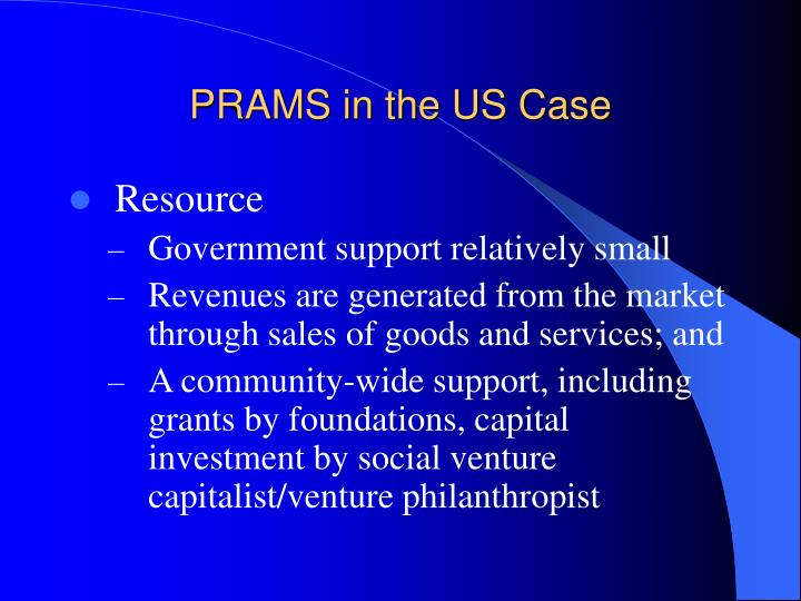 PRAMS in the US Case