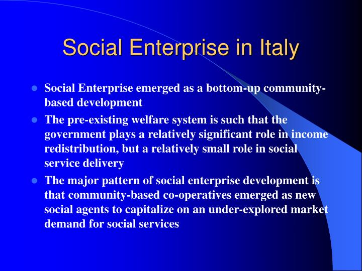 Social Enterprise in Italy