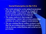 social enterprise in the usa