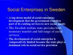 social enterprises in sweden