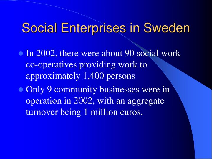 Social Enterprises in Sweden