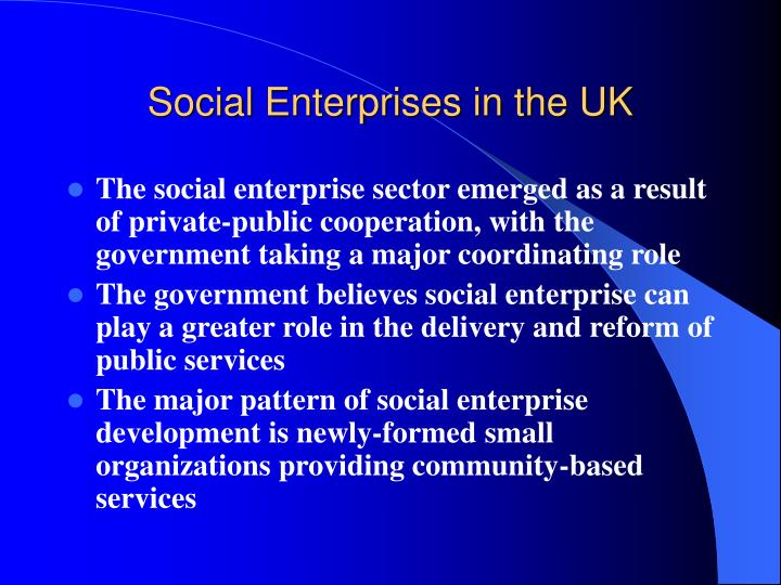 Social Enterprises in the UK