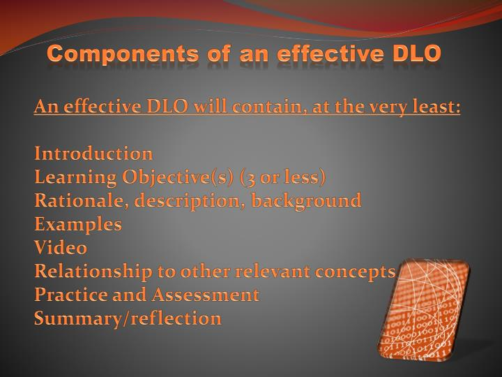 Components of an effective DLO