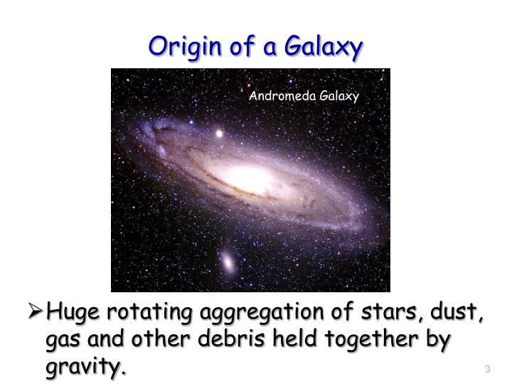 Origin of a Galaxy
