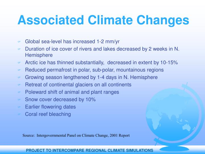 Associated Climate Changes