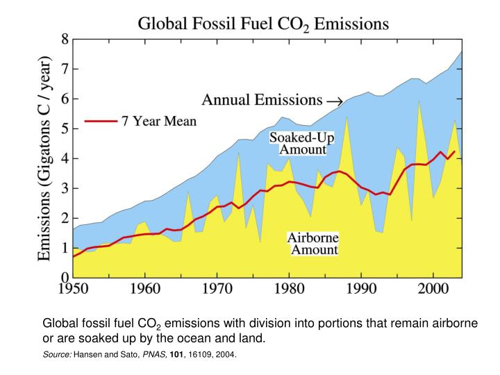 Global fossil fuel CO