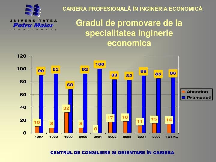 CARIERA PROFESIONALĂ ÎN INGINERIA ECONOMICĂ