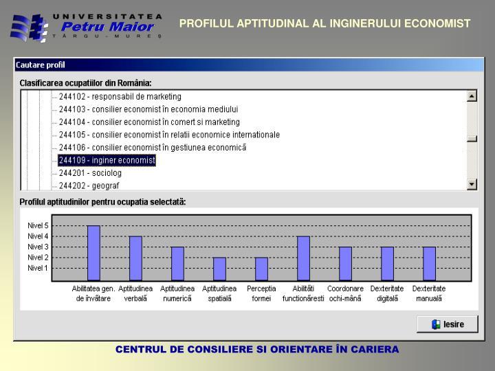 PROFILUL APTITUDINAL AL INGINERULUI ECONOMIST