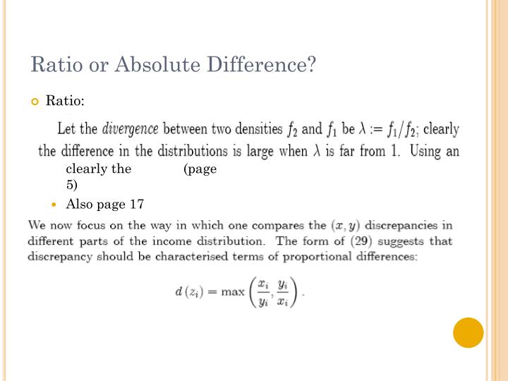 Ratio or Absolute Difference?