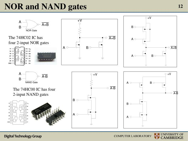 NOR and NAND gates