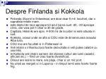 despre finlanda si kokkola