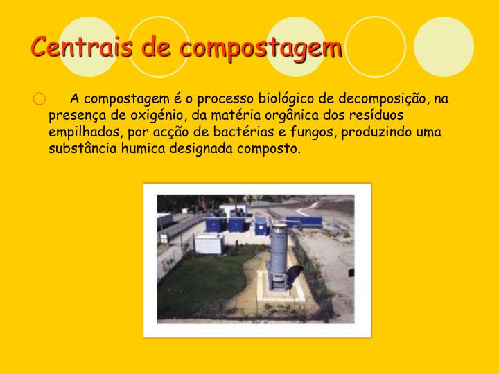 Centrais de compostagem
