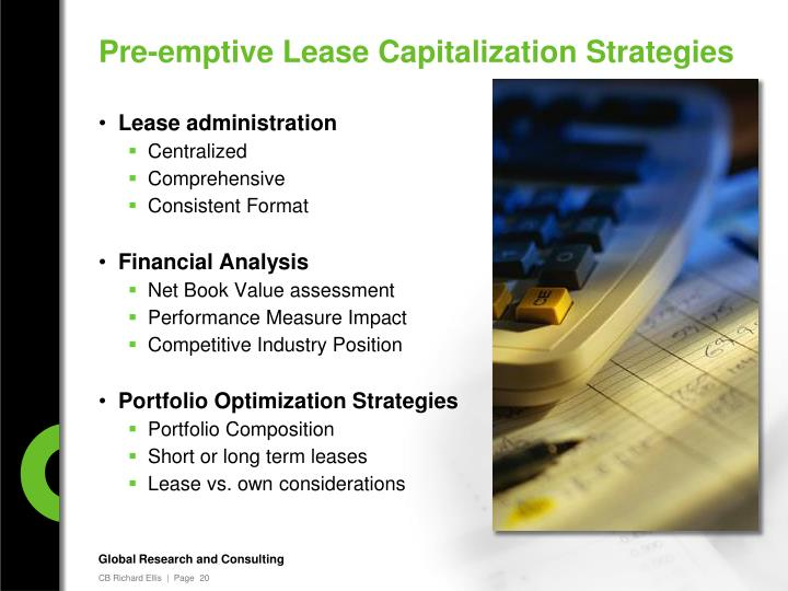 Pre-emptive Lease Capitalization Strategies