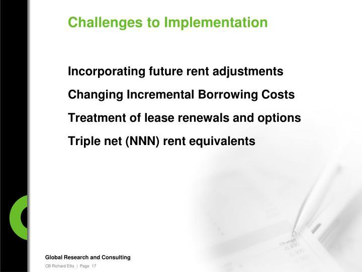 Incorporating future rent adjustments