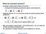 how to correct errors