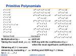 primitive polynomials
