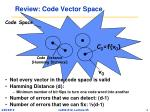 review code vector space
