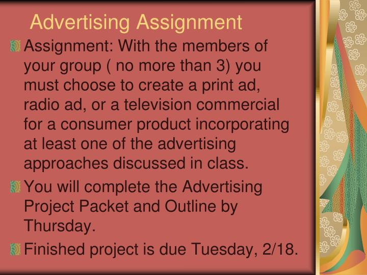 Advertising Assignment