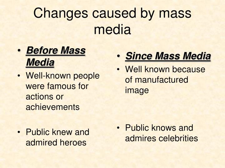 Before Mass Media