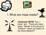 i what are mass media