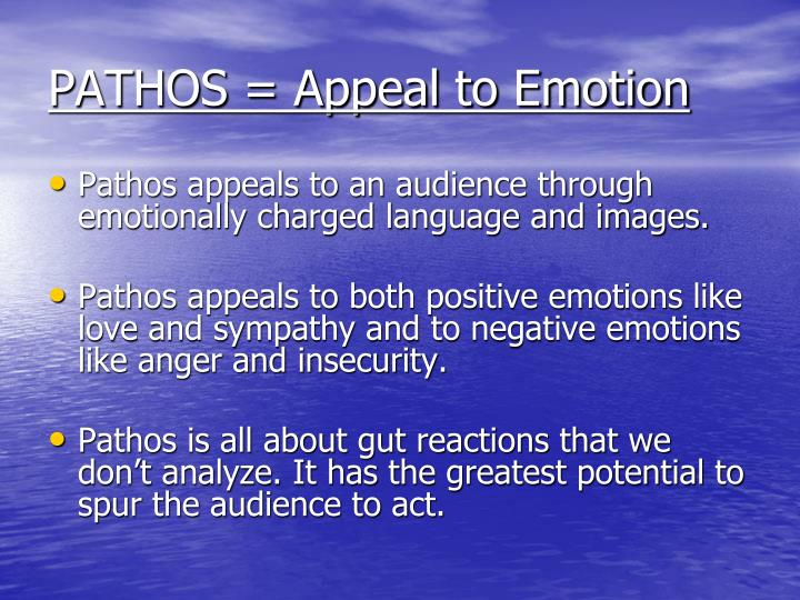 PATHOS = Appeal to Emotion