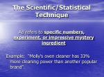 the scientific statistical technique