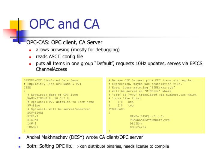 OPC and CA