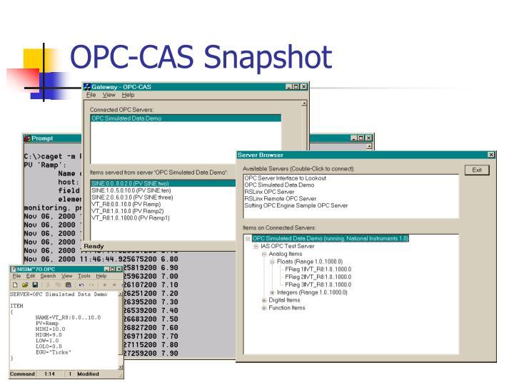 OPC-CAS Snapshot