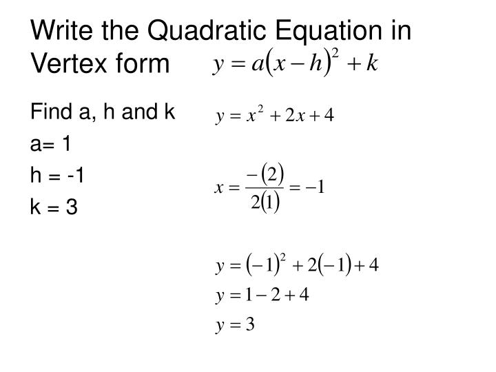 PPT - 6.6 Analyzing Graphs of Quadratic Functions ...