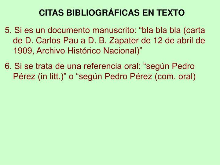 CITAS BIBLIOGRÁFICAS EN TEXTO