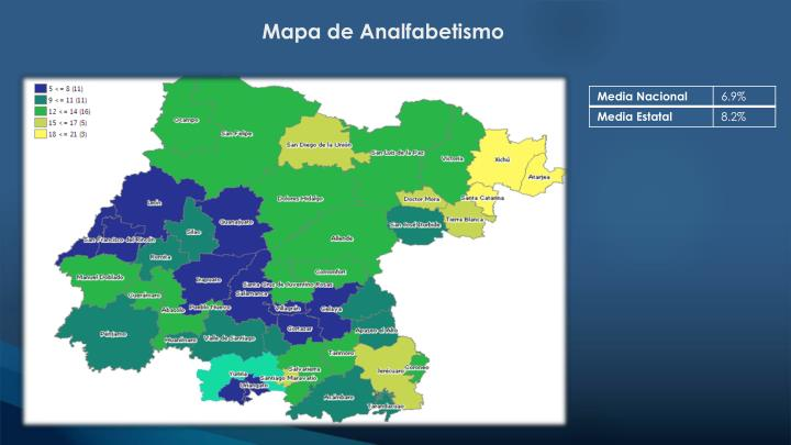 Mapa de Analfabetismo