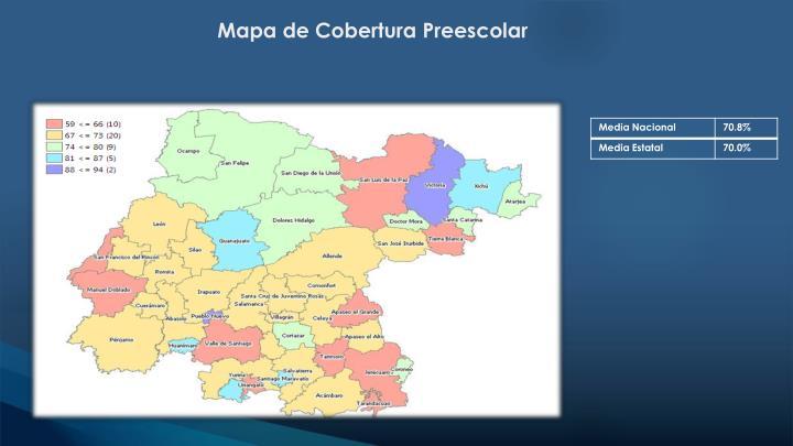 Mapa de Cobertura Preescolar