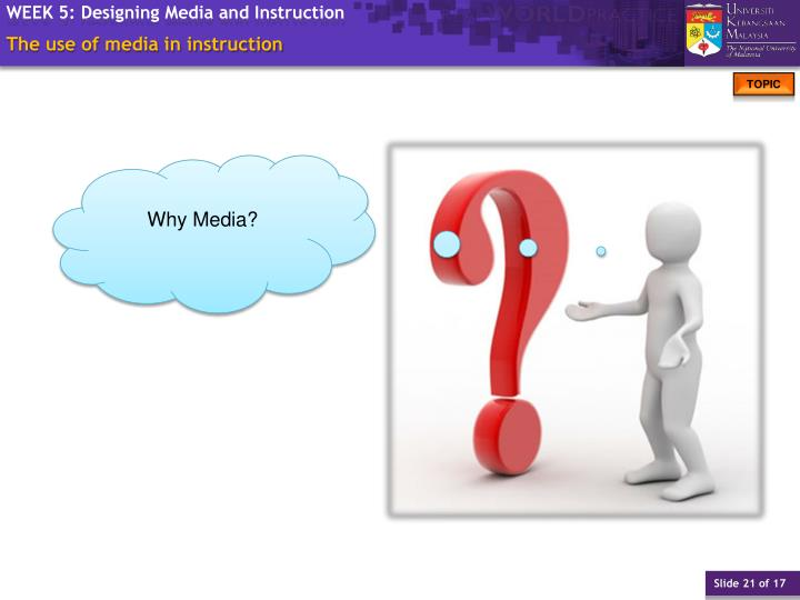 The use of media in instruction