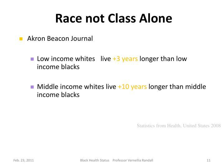 Race not Class Alone