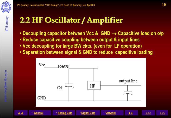 2.2 HF Oscillator / Amplifier