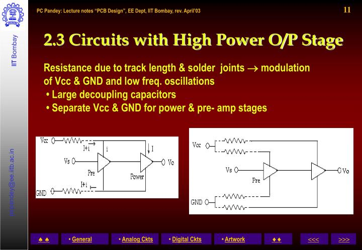 2.3 Circuits with High Power O/P Stage