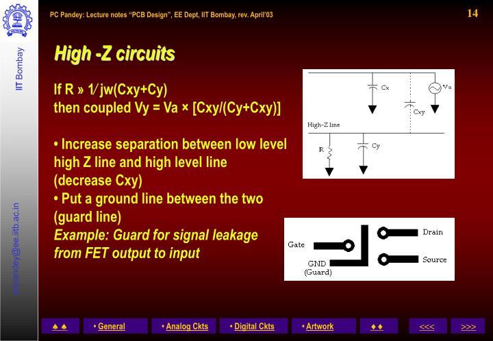 High -Z circuits